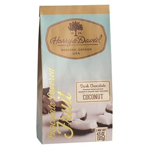 Harry & David Dark Chocolate Covered Coconut - 4.5oz - image 1 of 1