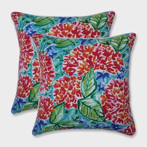 """18.5"""" 2pk Garden Blooms Throw Pillows Pink - Pillow Perfect - image 1 of 2"""