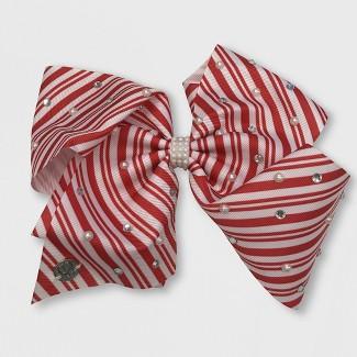 Girls' JoJo Siwa Candy Cane Bow Hairclip - Red