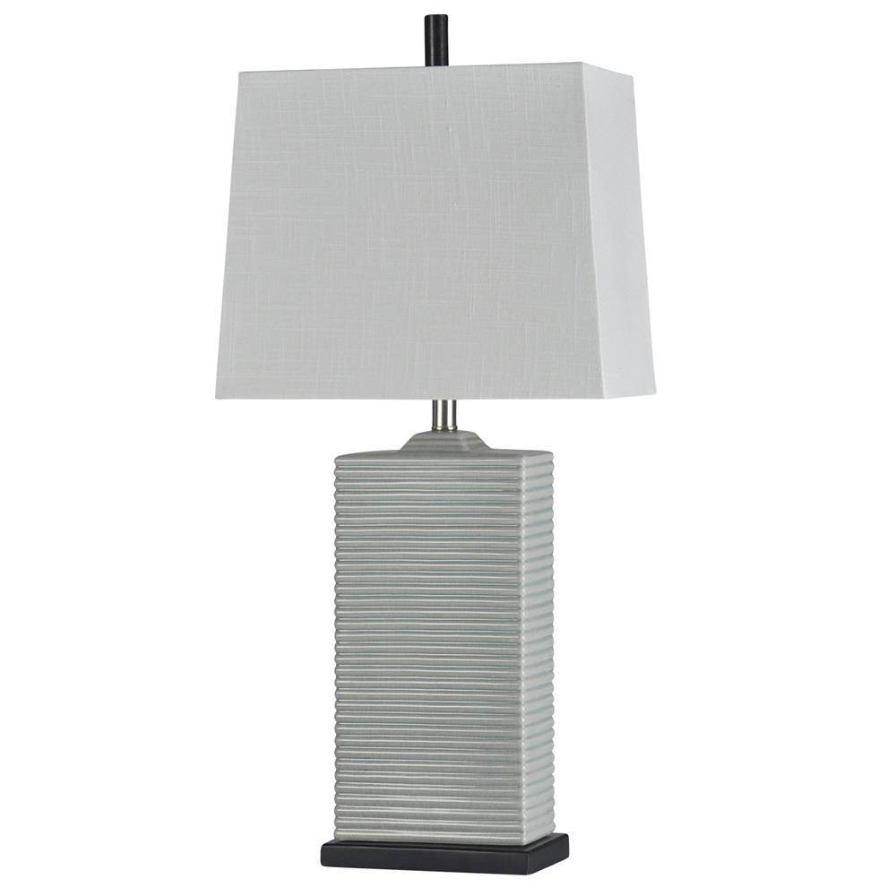 Seger Table Lamp Gray (Includes Light Bulb) - StyleCraft
