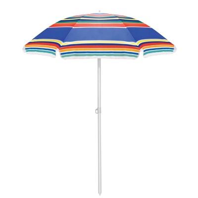 Picnic Time Portable Beach Stick Umbrella - Black