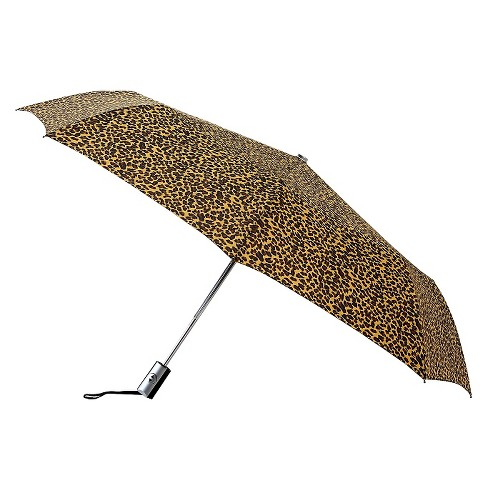 Auto Open Compact Umbrella - Cheeta Print - image 1 of 1