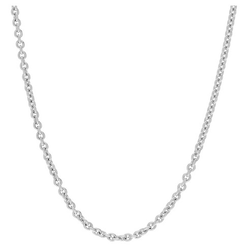 "Women's Journee Collection Adjustable Cable Chain Necklace in Sterling Silver - Silver (24"") - image 1 of 2"
