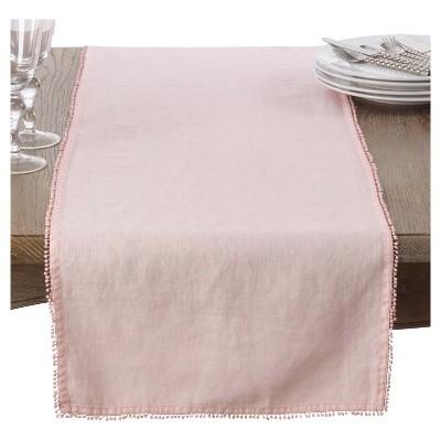 Pink PomPom Design Table Runner (16 x72 )- Saro Lifestyle®