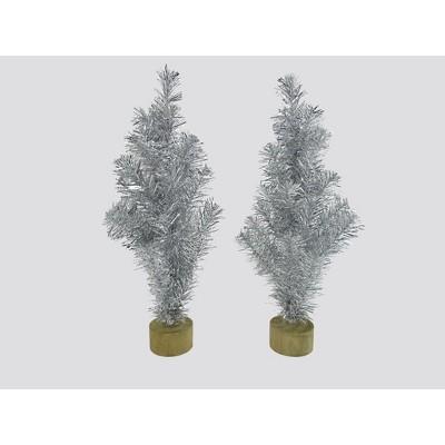 2ct Tinsel Tree Silver - Bullseye's Playground™