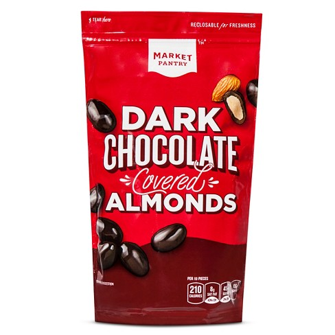 Dark Chocolate Covered Almonds - 9oz - Market Pantry™ - image 1 of 1