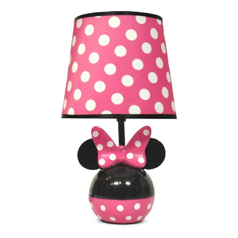 Mickey Mouse & Friends Minnie Mouse Table Lamp with Lightbulb - image 1 of 2