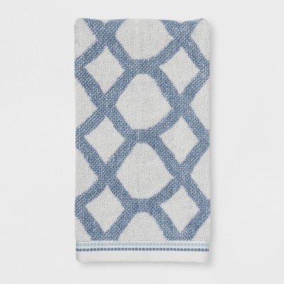 Geometrical Shape Bath Towels White - Threshold™