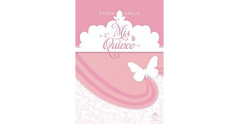 Santa Biblia : Reina-Valera 1960, rosa y blanco símil piel, Mis Quince / Pink/White LeatherTouch - image 1 of 1