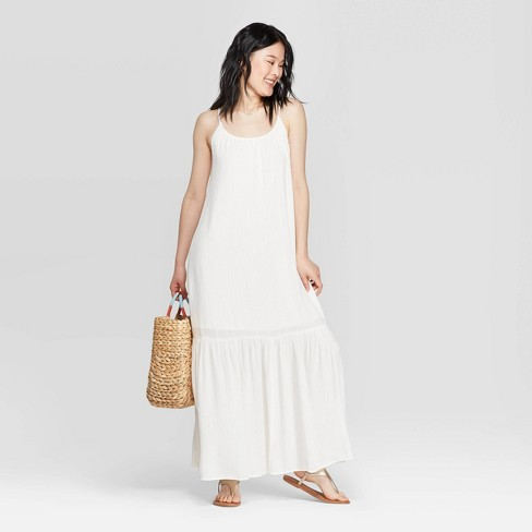 Women's Sleeveless Round Neck Maxi Dress - A New Day™ - image 1 of 8