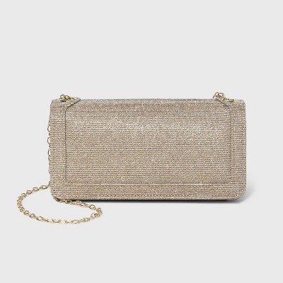 Estee & Lilly Shimmer Crossbody Bag with Chain