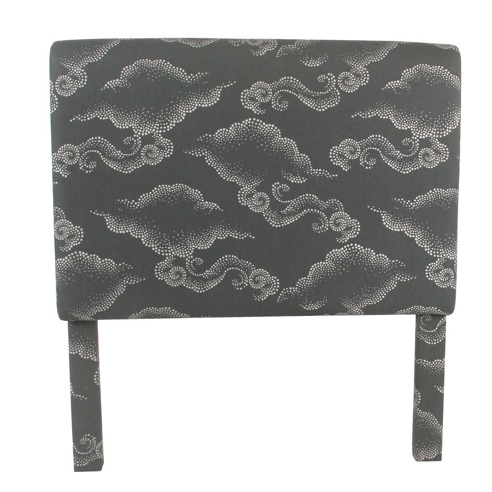 Twin Headboard Gray Clouds - HomePop