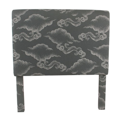 Twin Headboard Gray Clouds - HomePop - image 1 of 5