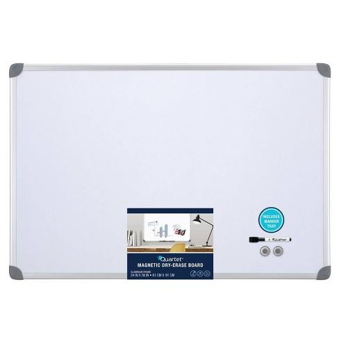 Quartet 24 X 36 Magnetic Dry Erase Board Aluminum Frame Target