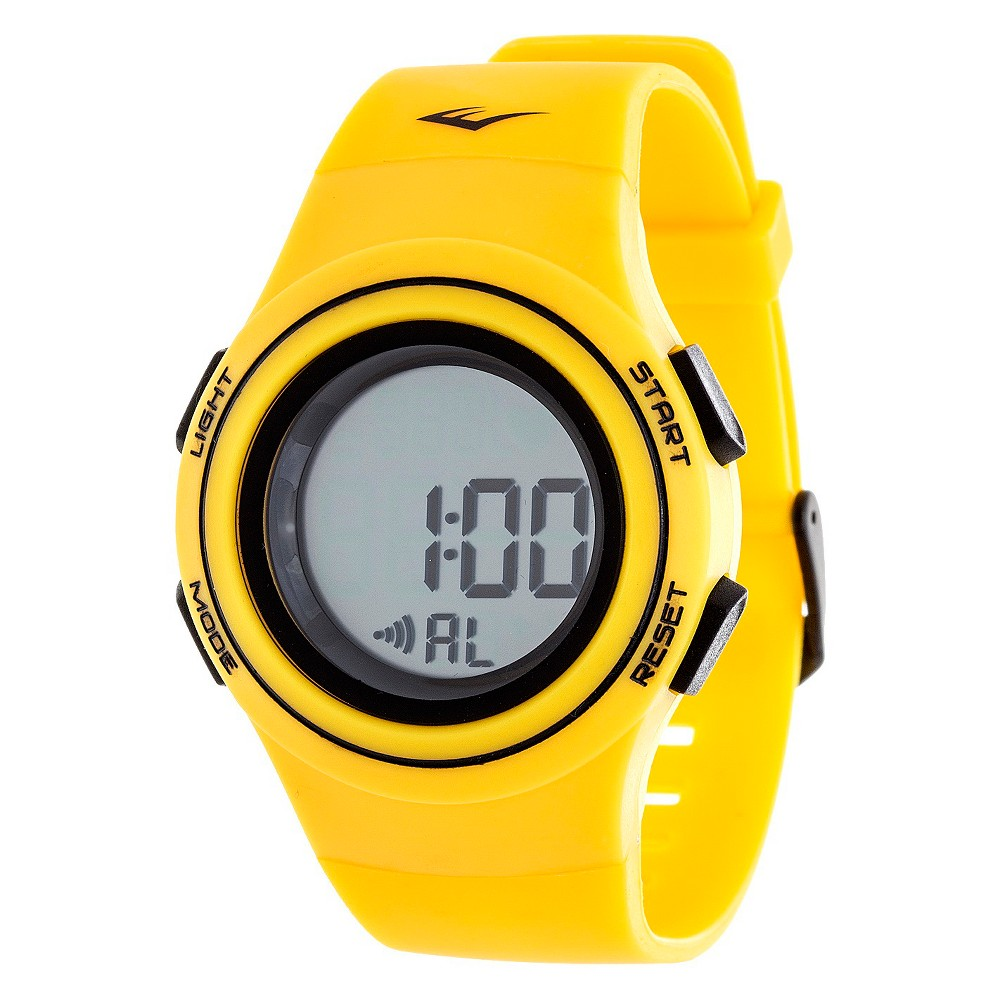 Image of Everlast Heart Rate Monitor Watch - Yellow, Adult Unisex
