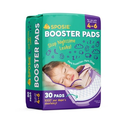 Sposie Booster Pads For Overnight Diaper Leak Protection - 30ct