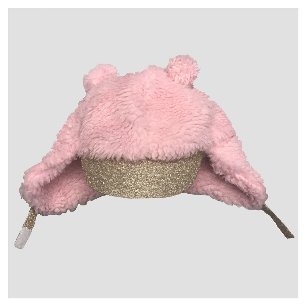 Baby Girls' Trapper Hat - Cat & Jack Pink 12-24M