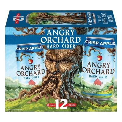 Angry Orchard Crisp Apple Hard Cider - 12pk/12 fl oz Cans