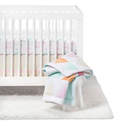 Crib Bedding Set Triangles 4pc - Cloud Island™ - Pink
