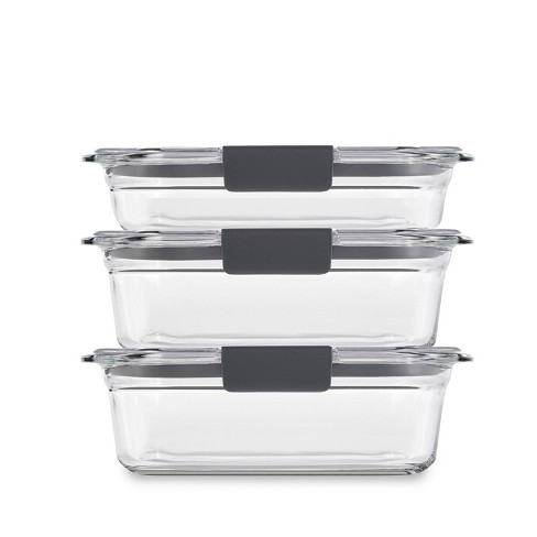 Rubbermaid 6pc Set (1) 2 cup, (2) 3.2 cup Brilliance Glass Set - image 1 of 4