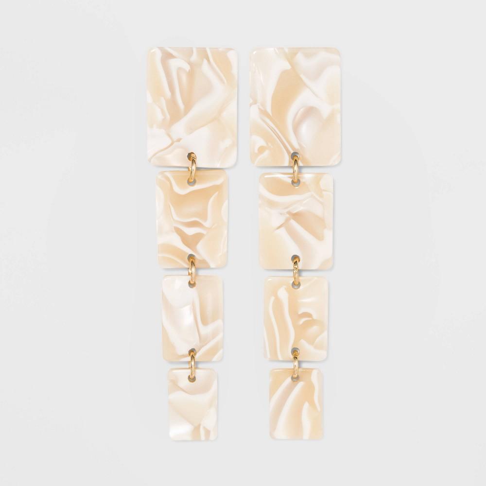 Image of Acrylic Dangle Earrings - A New Day Ivory, Women's