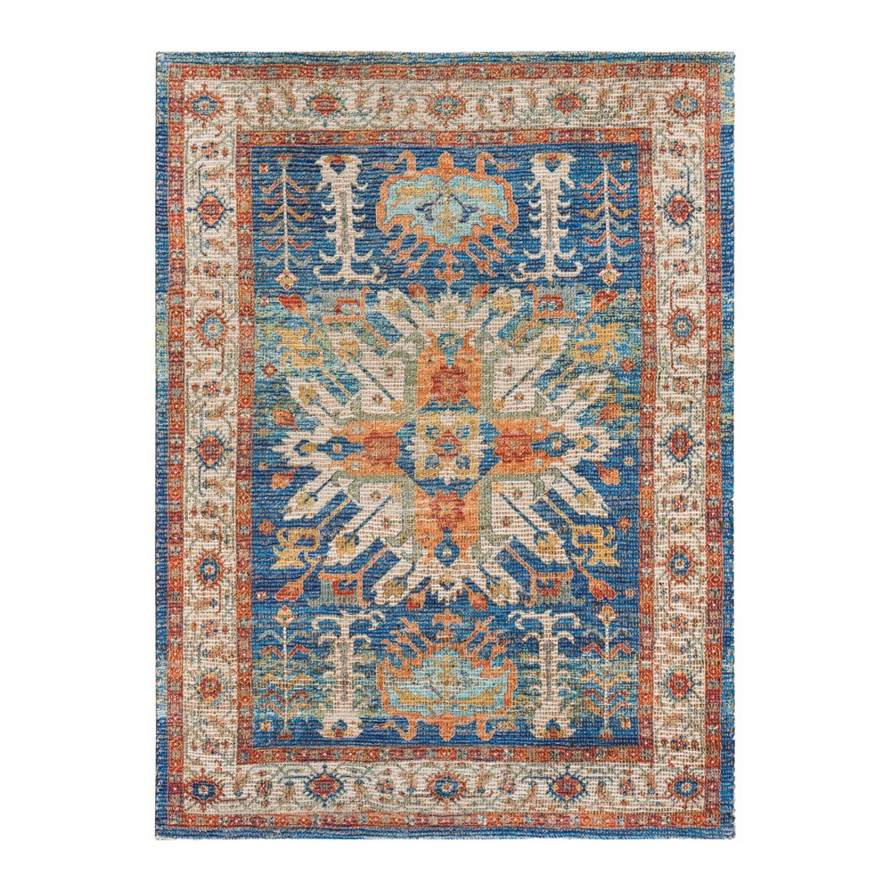 Image of 4'X6' Woven Medallion Accent Rug - Anji Mountain, Multicolored