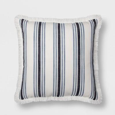 Stripe Throw Pillow - Cream/Blue - Threshold™