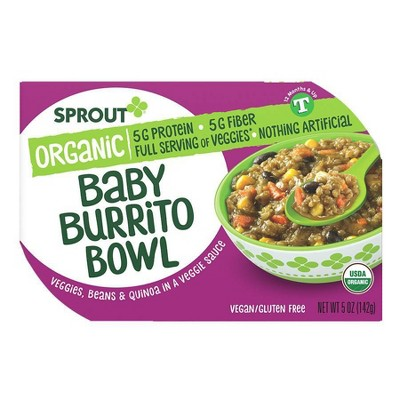 Sprout Foods Organic Burrito Bowl Toddler Meals - 5oz