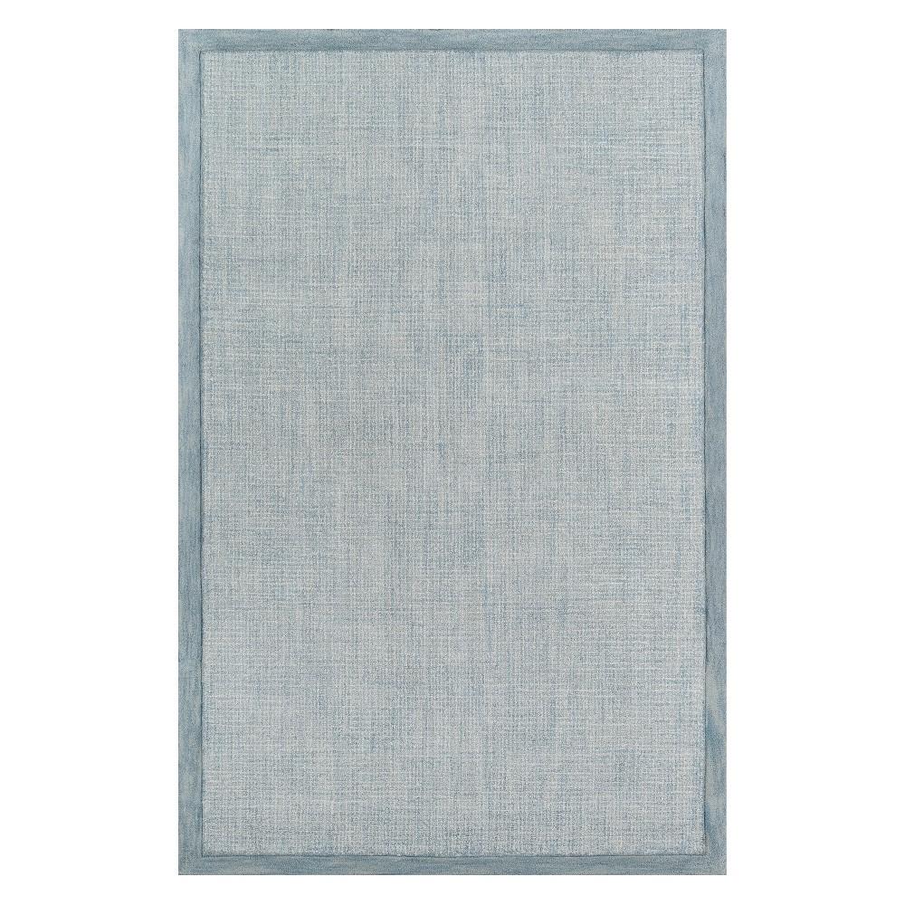 5'X8' Solid Tufted Area Rug Blue - Momeni