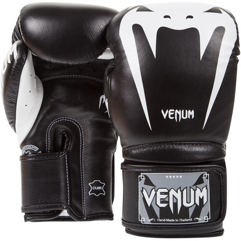 White//Gold Venum Giant 3.0 Nappa Leather Hook and Loop Training Boxing Gloves