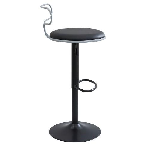 Miraculous Contour Contemporary Adjustable Barstool Gray Black Lumisource Ibusinesslaw Wood Chair Design Ideas Ibusinesslaworg
