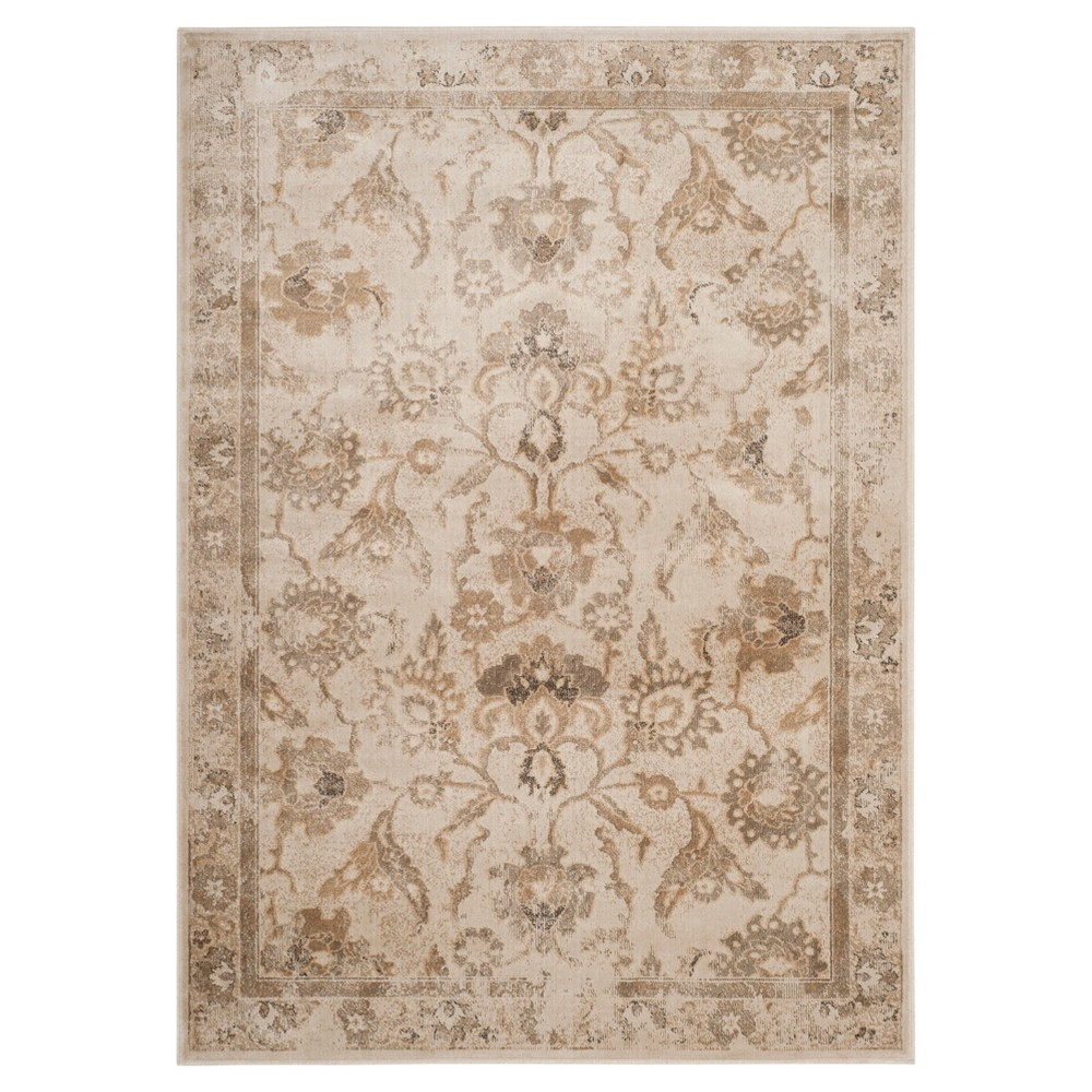 Stone (Grey) Floral Loomed Accent Rug 4'X5'7 - Safavieh