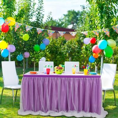1 Pc Nylon Tulle Wedding Birthday Party Decorations Table Skirts - PiccoCasa