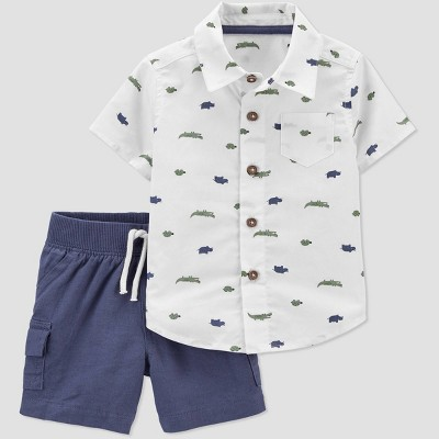 Baby Boys' 2pc Alligator Top & Bottom Set - Just One You® made by carter's Navy