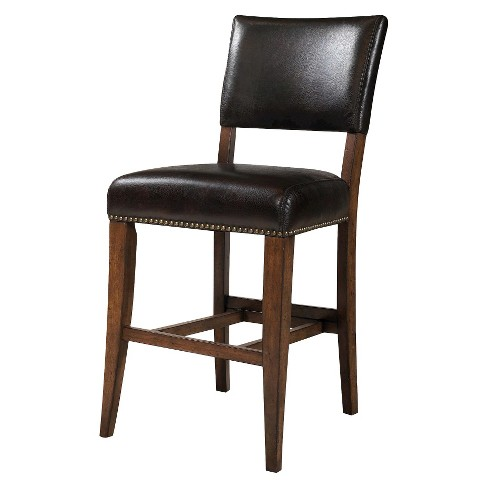 Cameron Padded Back 30 Barstool Woodchestnut Brown Set Of 2