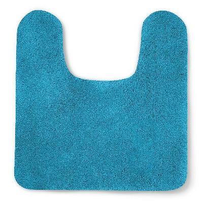 Soft Nylon Solid Contour Bath Rug Turquoise - Opalhouse™