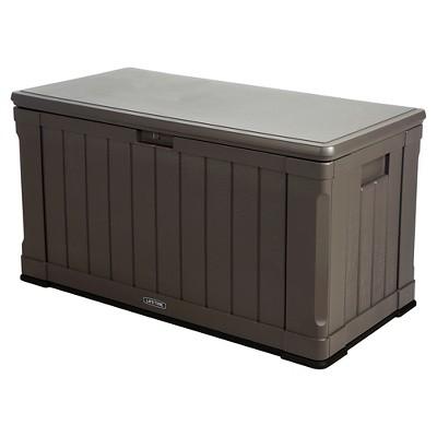 Outdoor Storage Box 116 Gallon - Gray - Lifetime