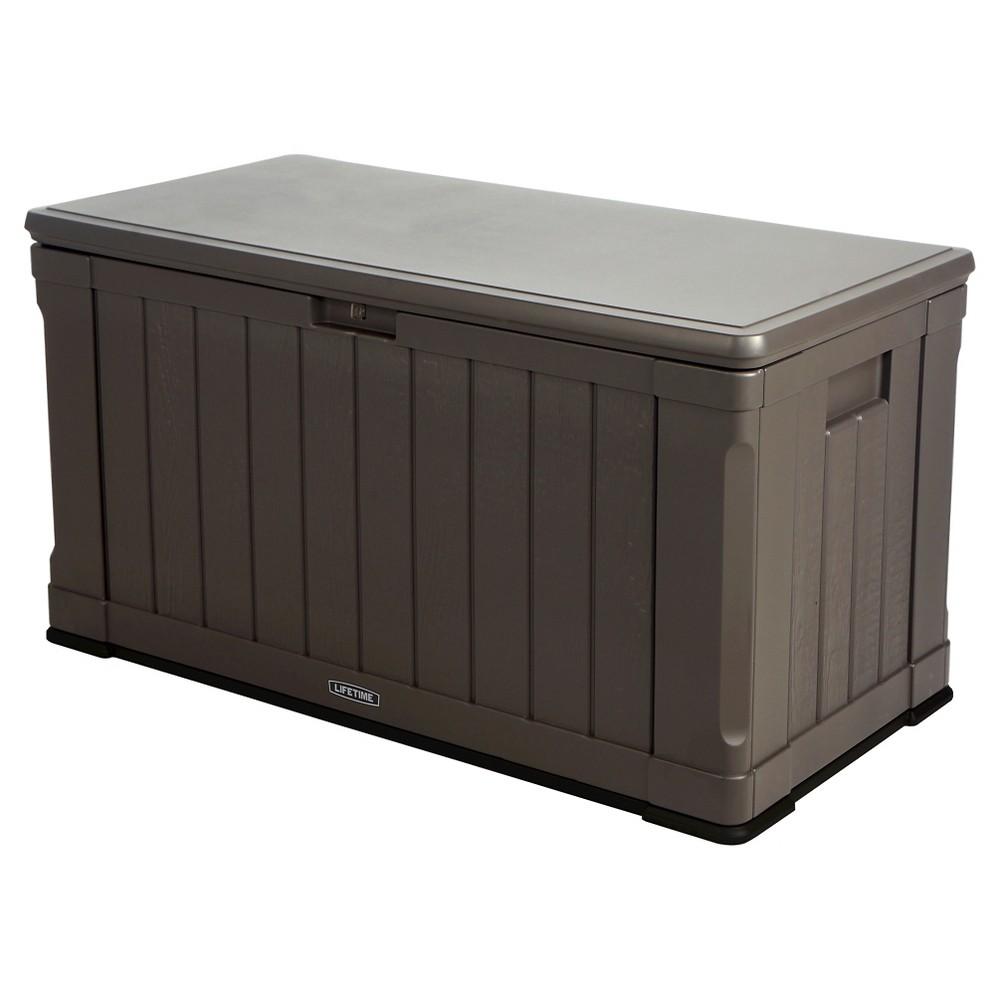 Image of Outdoor Storage Box 116 Gallon - Gray - Lifetime