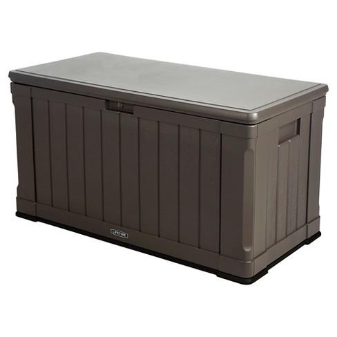 Outdoor Storage Box 116 Gallon Gray Lifetime Target