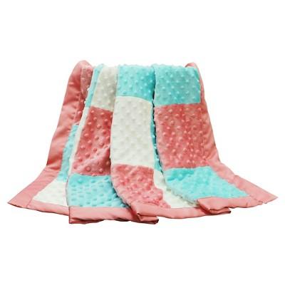 The Peanut Shell Plush Dot Blanket - Patchwork - Mila