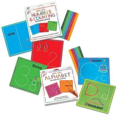 Wikki Stix Alphabet With Upper & Lowercase and Numbers & Counting Cards