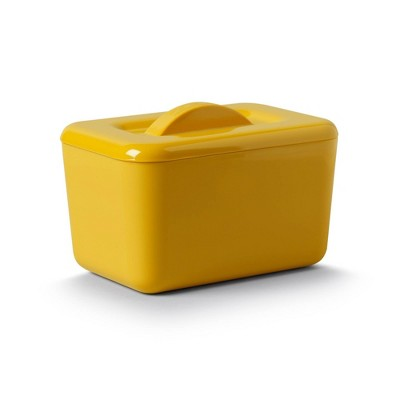 Zeal Melamine Double Walled Insulated Butter Dish Mustard