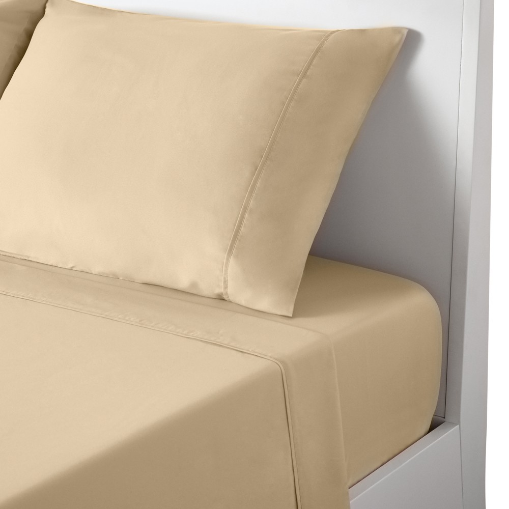 Image of Soft Basic Sheet Set (Queen) Sand (Brown) - Bedgear