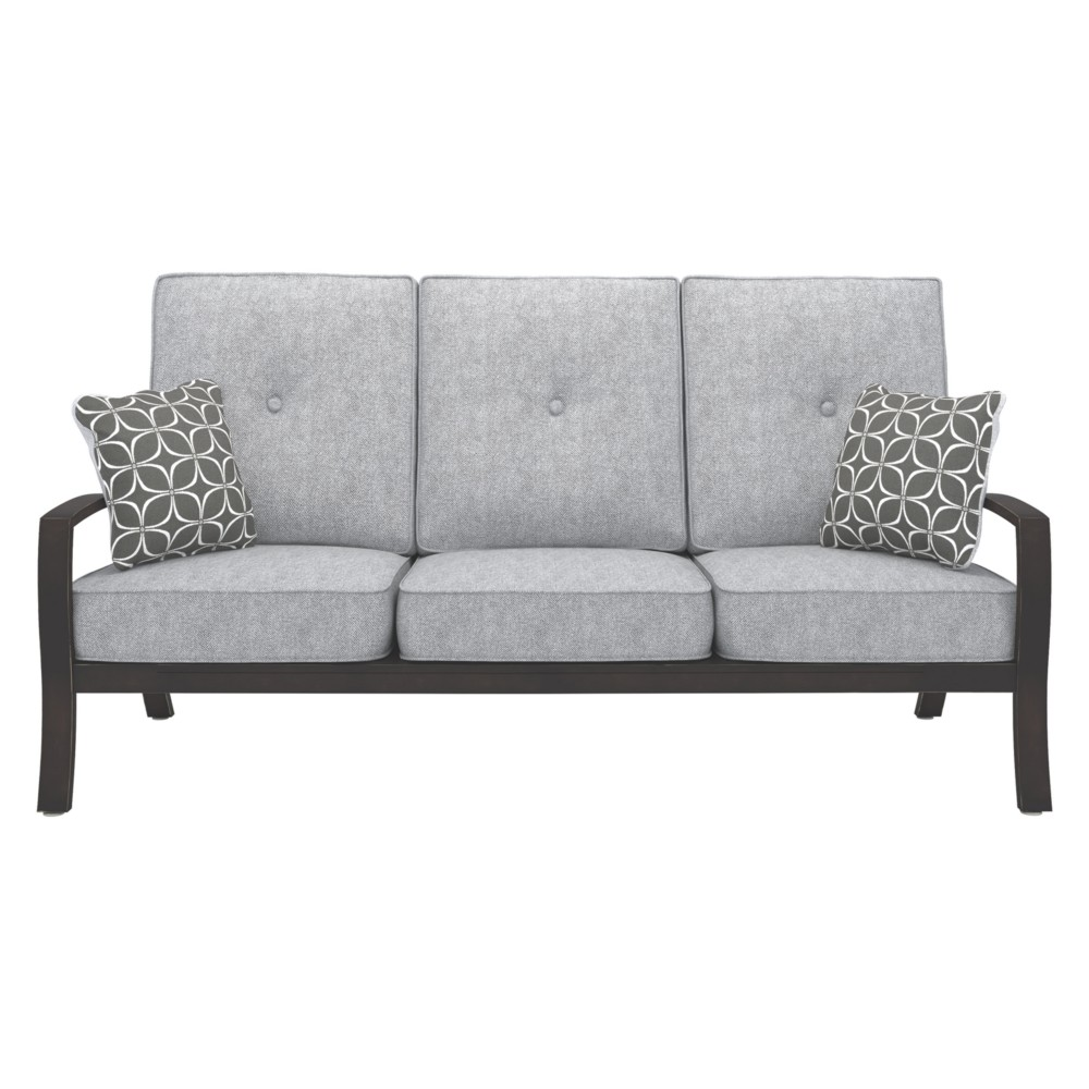 Castle Island Sofa with Cushion - Dark Brown - Outdoor by Ashley