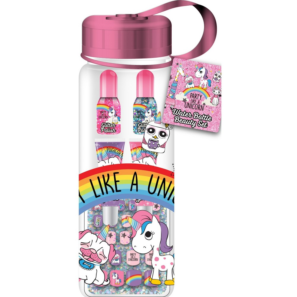 Image of Adore Party Like a Unicorn Cosmetic Water Bottle, Multi-Colored