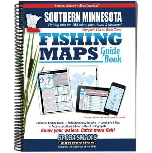 Southern Minnesota Fishing Maps Guide Book (Paperback) - image 1 of 1
