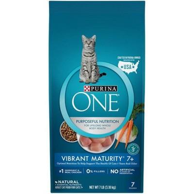 Purina ONE Vibrant Maturity Premium Senior Dry Cat Food - 7lbs