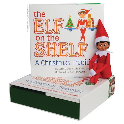 The elf on the shelf a christmas tradition book and elf gift set
