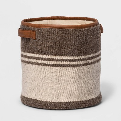 Hand Woven Cotton Wool Basket Natural - Threshold™