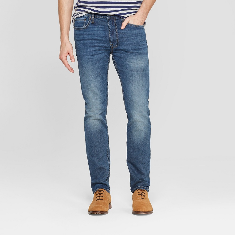 Men's 34 Skinny Fit Jeans - Goodfellow & Co Denim Blue 30x34